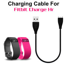 1000pcs/lot wholesale USB Chargers Charging Cables For Fitbit Charge HR Smart Wristband Black