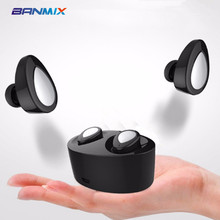 2017 BANMIX K2 TWS Mini Audifonos fone de ouvido Bluetooth Earphone Wireless Headset Earbuds with Microphone for Mobile Phone(China)