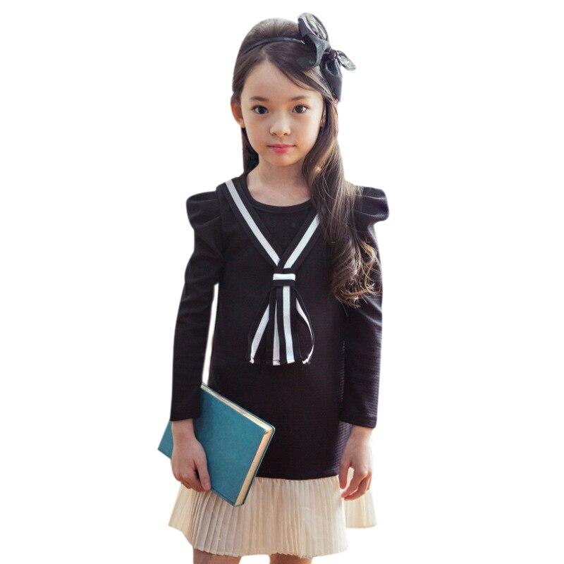 Kindstraum 2017 New Design Kids School Style Dress Brand Children Cotton Wear Spring &amp; Autumn Ruched Clothes for Girls,RC746<br><br>Aliexpress