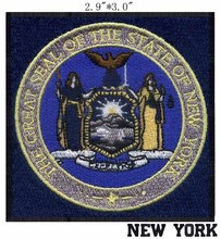 "New York State Seal patch 3"" wide shipping/Rivers objects/globe patching/goddess patch(China)"