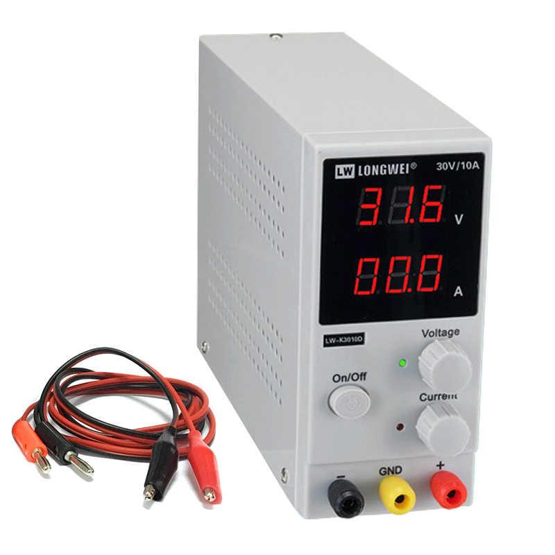 US Plug 110V Switchable DC Regulator,LW-K3010D High Precision Switching Regulated Power Source 30V//10A 100-240V 50Hz-60Hz
