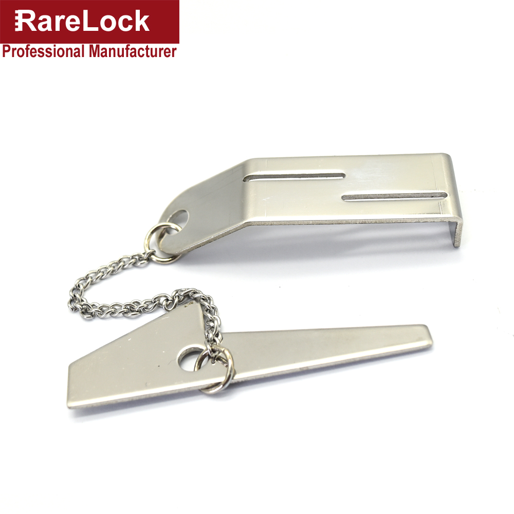 LHX Door Lock Stainless Steel Security Hasp Latch Lock No Installation Portable Convenient d(China)