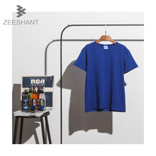 ZEESHANT Men Clothing XXXL 100% Pure Cotton Undershirt Men O Neck Fanila Cool White Plain T Shirt Men Top in Men's Undershirts(China)