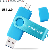 High Speed Smart Phone USB 3.0 OTG pen drive Double Use micro usb stick GB 128GB 64GB USB Flash Drive 32GB Pendrive Flash Drive(China)