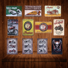 20x30cm Retro Vintage Metal Signs Indian Motorcycle Tin Plate Bar Garage Club Barn Parlor Plaques Home Wall Decor YN077
