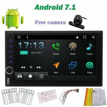 Free Backup Camera + Android 7.1 Octa-Core Car Stereo with 7 Inch Touch Screen gps tracker Double Din GPS Navigation NO DVD Radi(China)