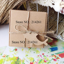 2016 New Kraft Cutedolphin Hang Tag For gift box Handmade ART 1lot=200 Tags Garment Tag