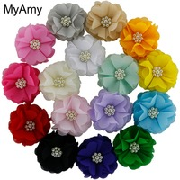 Amy diy store small orders online store hot selling and more on myamy 160pcslot 25 chiffon flowers sew with pearl center handmade chiffon headdress mightylinksfo