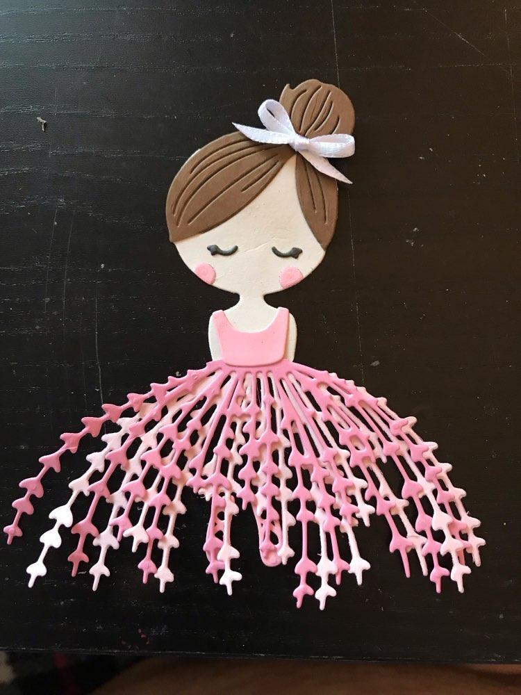 Dancing ballet girl doll Metal Cutting Dies Scrapbooking Decorative Embossing
