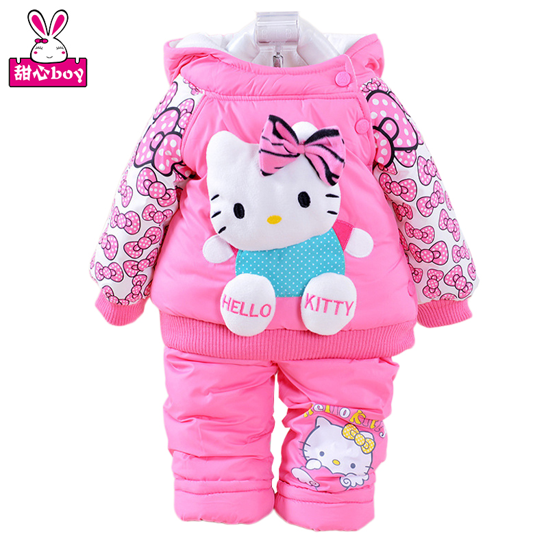 Kids Winter Warm Clothes Jacket and Pant Children Coat Suit Boy and Girls Baby Cotton Padded Jacket Clothes New Year Gift V-0285<br><br>Aliexpress