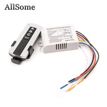 Allsome 3 Way Port ON/OFF Wireless Digital RF Remote Control Switch Receiver Transmitter For Light Lamp 220V HT034+(China)
