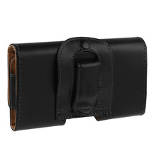 Sanheshun Universal Leather Case Flip Cover Pouch Waist Bag Wallet Belt-Clip Holster for iphone for Android(China)