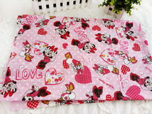 50*115cm Minnie Mouse Daisy Duck Cotton Fabric for Sewing Patchwork Bedding Fabric DIY Baby Cloth Textiles 14121609(China)