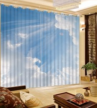 Sky Design Print Cutains Modern Bedroom Living Room Home Decoration Curtains Blackout 3D Curtains For Window(China)