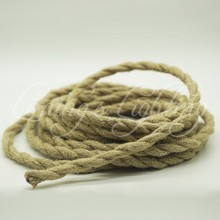 5m/lot 2x0.75 Rope Twisted Cable Retro Braided Electrical Fabric DIY Pendant Wire Vintage Lamp Cord Copper For Pendant Lights(China)