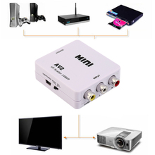 Composite AV CVBS 3RCA to HDMI Video Converter Adapter Full HD 720P 1080P For HDTV VCR DVD VHS PS3 Xbox White New