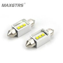 2x Car Festoon C5W 3 Led Cree Chip Bulb 12V Canbus Error Free Map Lamp Interior Dome Reading Lights Super White 31/36/39/41mm