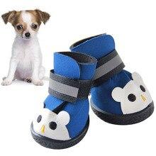 4pcs zapatos Pet El otoño y el invierno Casual Resistentes al uso de los zapatos impermeables perro TpMFAy