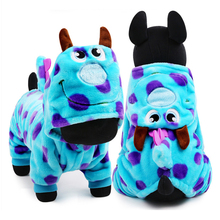 2017 Hot Sale Dog Pet Clothes Velvet Cute Party Dress Dog Winter Clothing Coat Dragon Dog Cloth for Pet Dog 5 sizes avaliable(China)