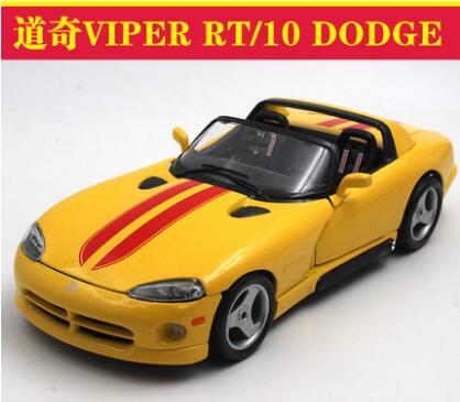 New VIPER RT/10 DODGE 1:18 car model Bburago alloy diecast collection sports car yellow kids toy Fast &amp; Furious  Need for Speed <br><br>Aliexpress