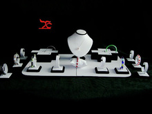 Professional Jewelry Display stand kit for bangles white and black Counter Showcase Set
