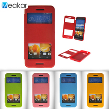 Double View Window Flip Leather 5.0for HTC One M9 Case For HTC One M9 Cell Phone Back Cover Case(China)