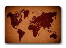 Custom Machine-Washable Classic World Map Door Mat Indoor/Outdoor Decor 40x60cm Rug Doormat Room Decoration