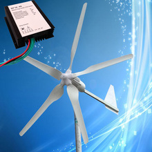 1KW 48V Wind Turbine Generator 5PCS Blades with Tail Turned Brake Protection + 1000W 48V Wind Charge Regulator, 3 Years Warranty