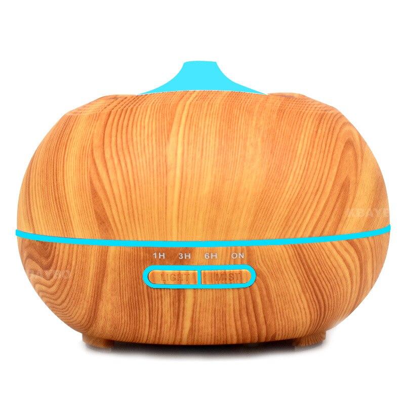 Wood grain mass aromatherapy machine 350 ml colorful aromatherapy lamp mute ultrasonic essential oil aromatherapy humidifier<br>