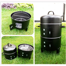 High quality smoked oven, charcoal BBQ grill, grill outdoor grill, outdoor smoked grill 40*80CM Multi-function barbecue pits(China)