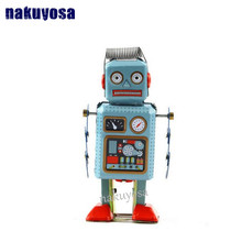 classic collection retro reminiscence iron sheet robot clockwork cartoon doll toy kids Christmas gift