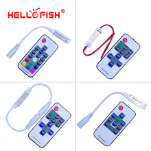 Hello Fish DC dimmer for LED strip , RF Wireless Remote RGB Controller with DC connector(China)