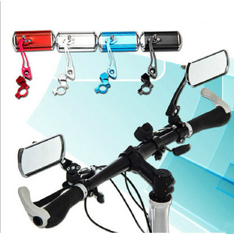 1 Pair Bicycle Mirror Aluminum Alloy Bike Rear View Mirror Safety Bycicle Accessories High Cycle Mirrors