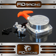 1/5 rc car gas FID Racing CNC machined alloy pull starter for 1/4,1/5,1/6 CY /Zen HPI baja Losi FG MCD Boats/planes engine(China)