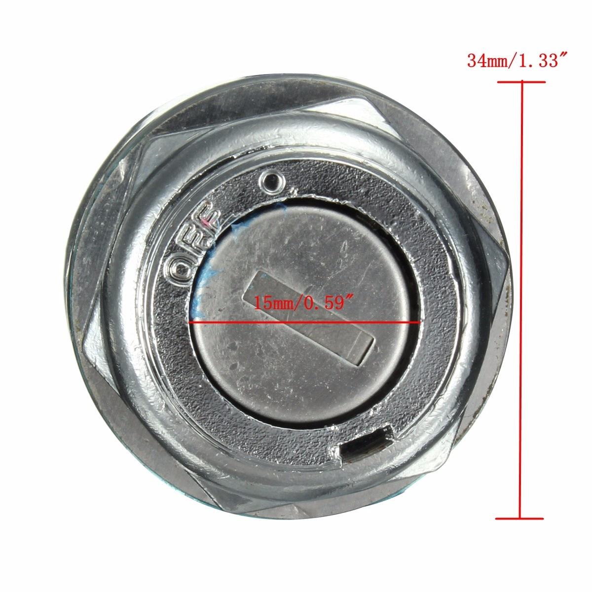 Moto Cyclomoteur Ignition Barrel Interrupteur à clé 4 Wire Quad ON//OFF Métal ATV 2 Touches