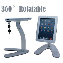 Metal protable tablet computer holder security display stand anti-theft device case for iPad 2/3/4/air with lock(China)