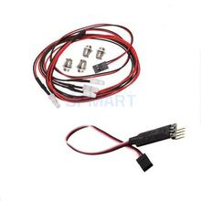 4pcs RC Car LED Lamp & LED Lamp RC Circuit Panel For 1/10 1/8 RC HSP