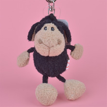 3 Pcs Black Sheep Small Plush Pendant Toy, Kids Doll Keychain / Keyholder Gift Free Shipping(China)
