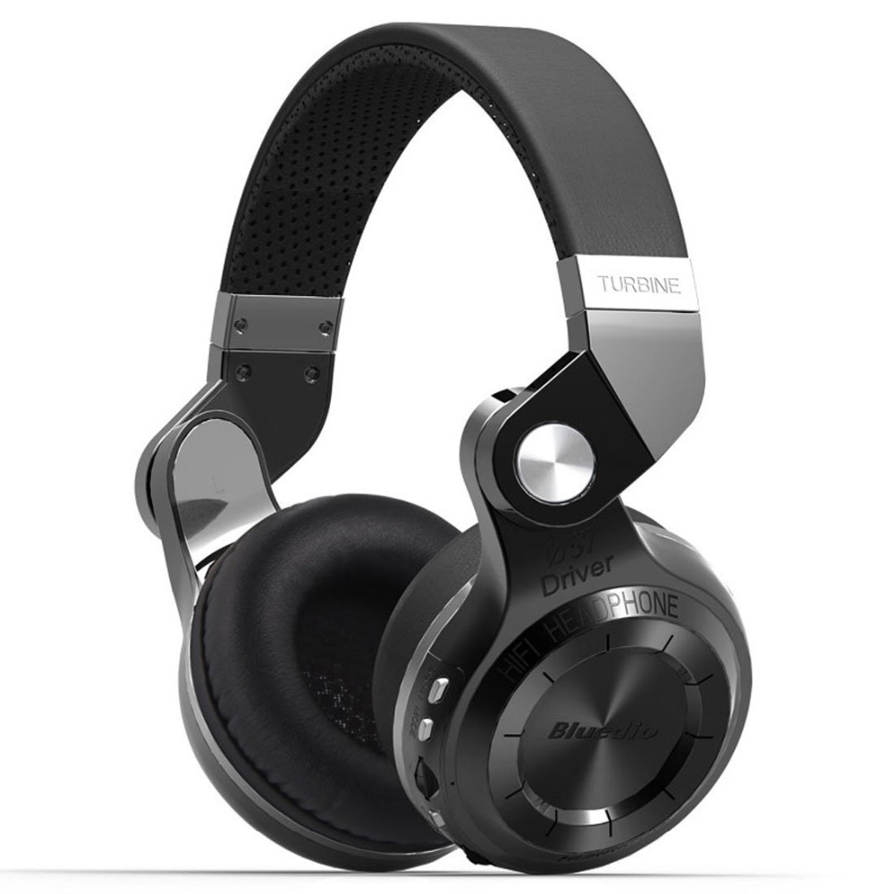 Bluedio T2+ Foldable Bluetooth Headphones 4.1 Headset Stereo support FM radio&amp; MicroSD Card Functions Music&amp;phone Calls (Black)<br><br>Aliexpress
