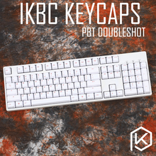 ikbc pbt doubleshots keycaps gaming keys OEM mechanical keyboards keycaps profile white red keycaps 104 ansi