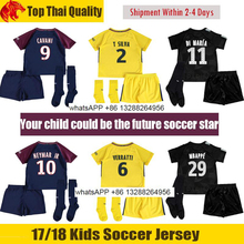 2017 2018 new Thailand quality kids at home and out Jerseys THIRD black Jerseys PSG 17 18(China)