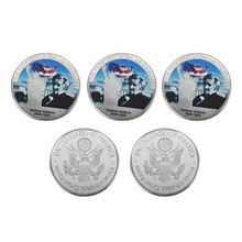 WR Colored US President Challenge Coin Andrew Jackson Commemorative Silver Coin for Collectible Birthday Gifts(China)