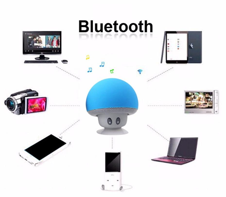 Wireless Mini Bluetooth Speaker Portable Mushroom Waterproof Stereo Bluetooth Speaker for Mobile Phone iPhone Xiaomi Computer PC  (10)