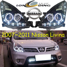 Livina headlight,2007~2012,(LHD,If RHD need add 200USD),Free ship! Livina fog light,2ps/set+2pcs Aozoom Ballast, sylphy,Livina