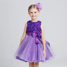 summer dress kids girls wedding party dresses lace baby girls princess nightgown child evening costume flower girl gown NQ162