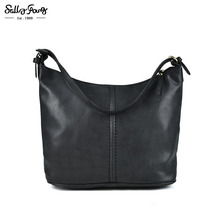 Sally Young International Brand Women Bag Casual Solid Luxury Handbags Women Bags Shoulder Bag Crescent Package 2Color TZ001(China)