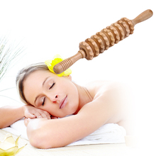 1pcs Multifunctional Wooden Abdominal Massage Roller Handheld Manual Wheel Massage Stick Release Pain Massage Tool Best Selling