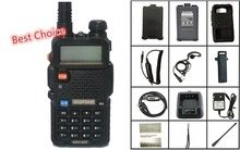 BaoFeng UV-5R Walkie Talkie VHF/UHF136-174 /400-520Mhz + Programing Cable+Battery Case+Soft Case+Car Charger Handy Hunting Radio(China)