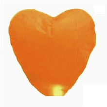 10-Pack: orange Heart Sky Lanterns Chinese Paper Sky Candle Fire Balloons for Wedding / Anniversary / Party / Valentine