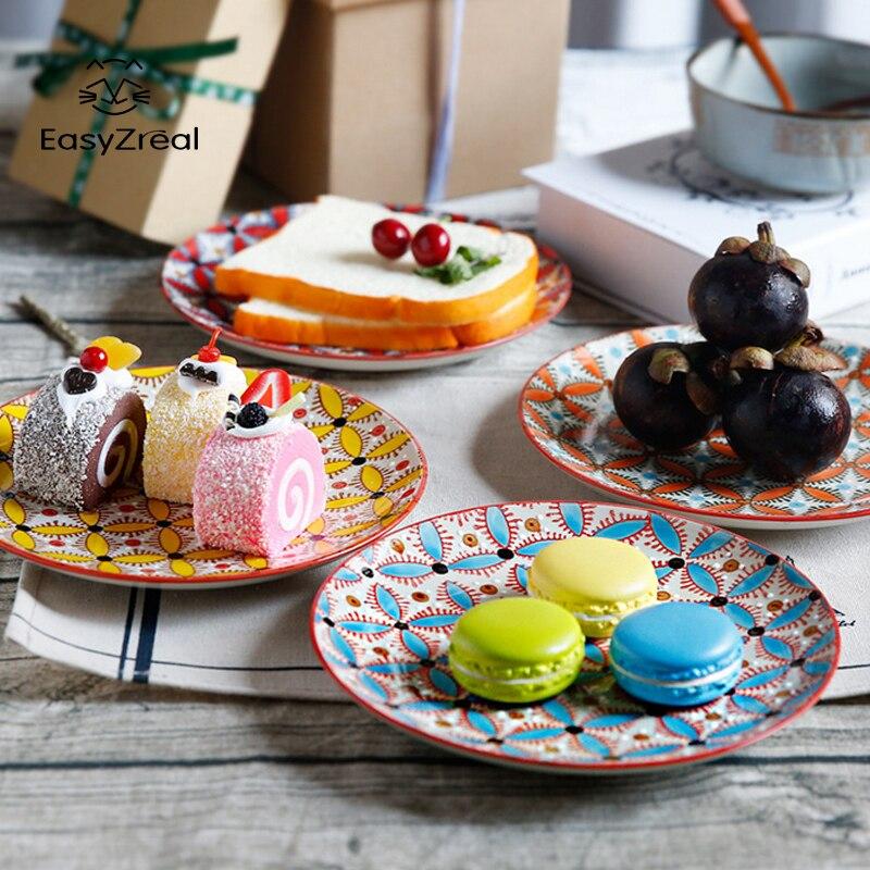 EasyZreal 8inch Ceramics Plates Dish Creative Frui...